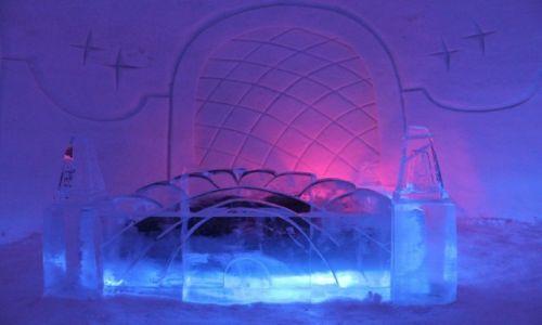 Zdjecie FINLANDIA / laponia / lodowy hotel / w takim łózku to dopiero sa sny :)