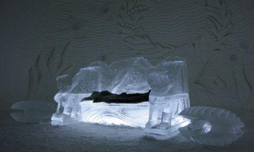 Zdjęcie FINLANDIA / Laponia / Kemi / Kryształowy fotel