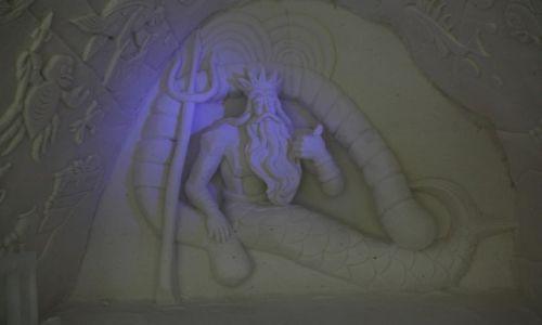 Zdjecie FINLANDIA / Laponia / Kemi / Neptun - rzeźba w śniegu