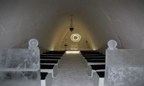 Zdjecie FINLANDIA / Laponia / Kemi / Kaplica w lodowym zamku