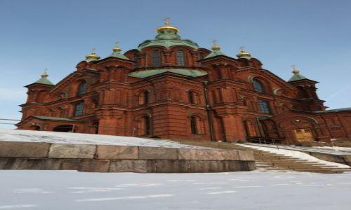 Zdjęcie FINLANDIA / Uusimaa / Helsinki / Sobór Uspieński Sobór Zaśnięcia Matki Bożej