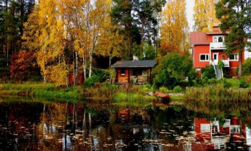 Zdjecie FINLANDIA / Laponia / Rovaniemi / Lake