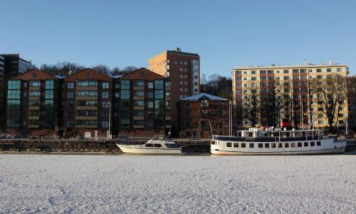 Zdjęcie FINLANDIA / Turku / Rzeka Aurajoki / Za rzeką