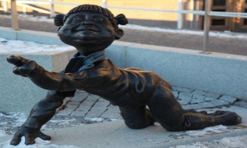 Zdjęcie FINLANDIA / Turku / Rzeka Aurajoki / Wszędobylskie trole