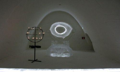Zdjecie FINLANDIA / Laponia / Kemi, hotel z lodu / Kaplica