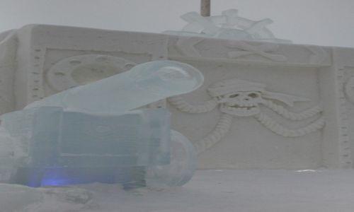 Zdjęcie FINLANDIA / Laponia / Kemi, hotel z lodu / Lodowo-śniezne rzeźby