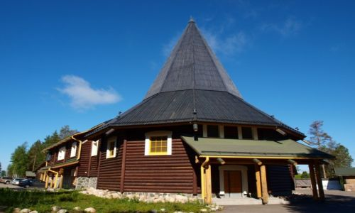 Zdjęcie FINLANDIA / Laponia / Napapiri / w wiosce Św. Mikołaja
