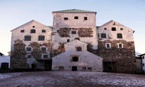 Zdjęcie FINLANDIA / Varsinais-Suomi / Turku / Zamek, widok od dziedzińca