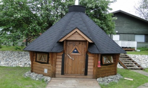 Zdjęcie FINLANDIA / Fińska Laponia / Okolice Kemi / Typowa sauna....
