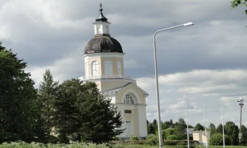 Zdjęcie FINLANDIA / Fińska Laponia / Okolice Kemi / Stary Kościół w Keminmaa (1530-1660 r.) z mumią Nikolausa Rungiusa