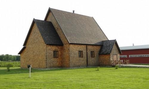 Zdjęcie FINLANDIA / Fińska Laponia / Okolice Kemi / Kościółek  z XVI wieku przeniesiony do Kemi