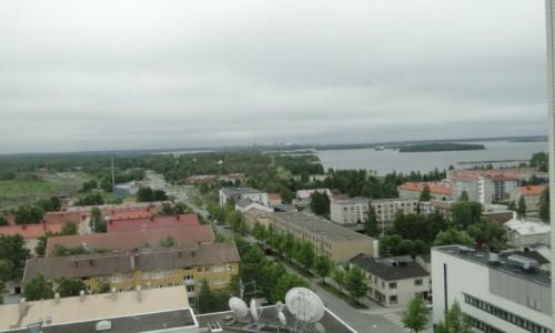 Zdjęcie FINLANDIA / Fińska Laponia / Taras widokowy w urzędzie miasta... / Panorama Kemii