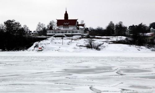 Zdjęcie FINLANDIA / Helsinki / Zatoka Kauppatori / Rezydencja na wyspie