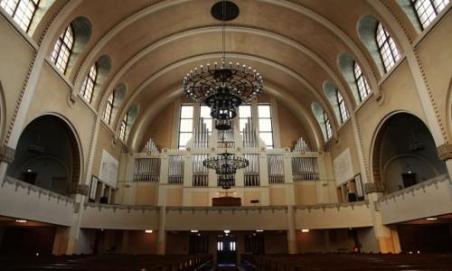 Zdjęcie FINLANDIA / Uusimaa  / Helsinki / Kościół w Kallio, organy