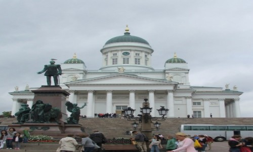 Zdjecie FINLANDIA / - / Helsinki, Plac Senacki / Fińskie reminis