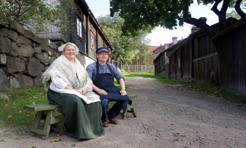 FINLANDIA / Turku / Skansenu Luostarinmaki / Pora obiadowa