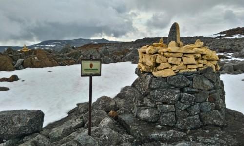 Zdjecie FINLANDIA / Skandynawia  / granica Norwegii i Finlandii   / tuż pod szczytem