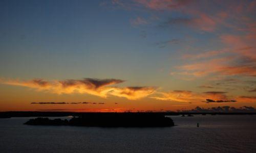 Zdjęcie FINLANDIA / Wyspy Alandzkie / Bliżej nieokreślona pozycja..;) / Wyspy Alandzkie - zachód słońca z promu