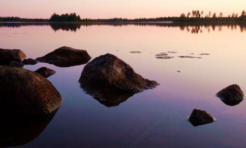 Zdjecie FINLANDIA / Laponia / Inari (jezioro) / Skały