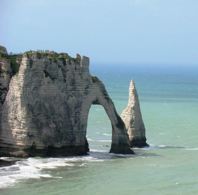 Zdj�cia: Etretat, Normandia, ALABASTROWE WYBRZE�E, FRANCJA