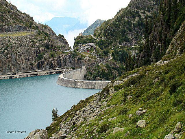Zdjęcia: okolice Chamonix, zapora Emosson, FRANCJA