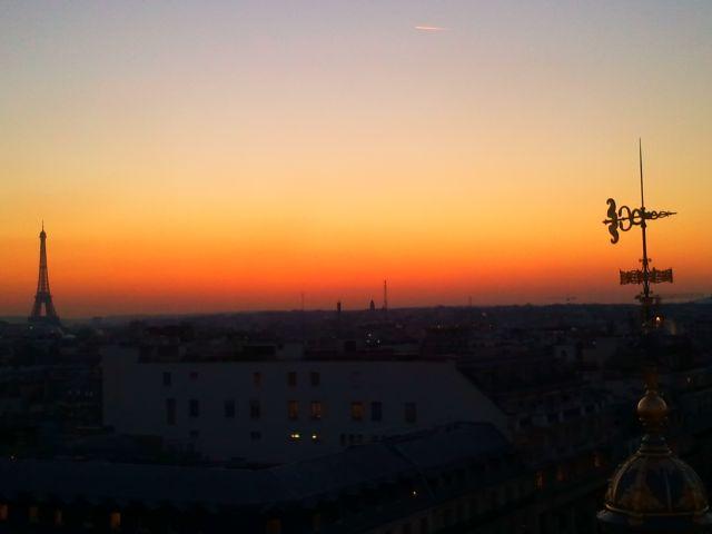 Zdjęcia: Paryż, Zachód słońca - panorama Paryża, FRANCJA