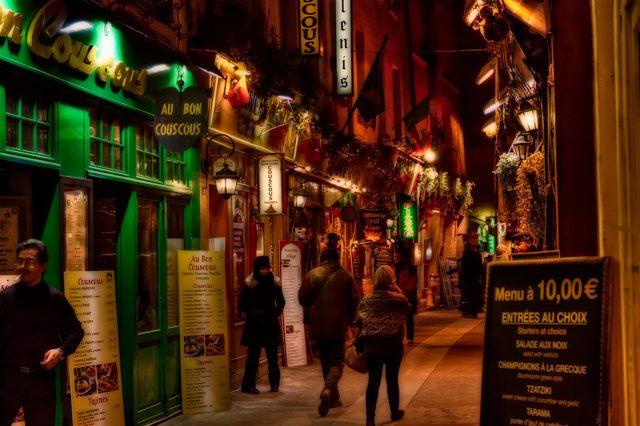 Zdjęcia: Paris street, Paris, The picturesque streets of Paris by night KONKURS, FRANCJA