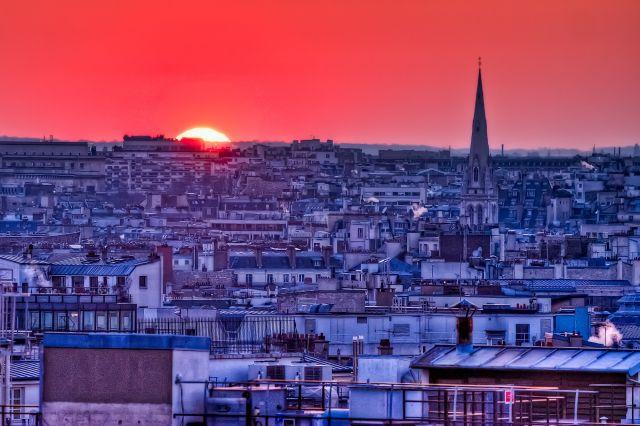Zdjęcia: Paris street, Paris, Sunset by Paris, FRANCJA