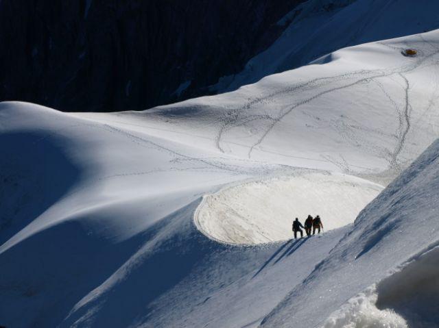 Zdjęcia: Aiguille du Midi , Alpy Chemonix, Grań, FRANCJA