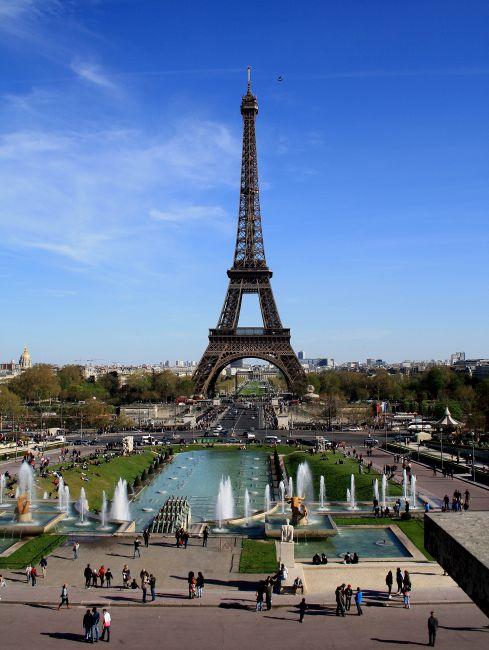 Zdjęcia: Paryż, Place du Trocadero, wiosenny Paryż, FRANCJA