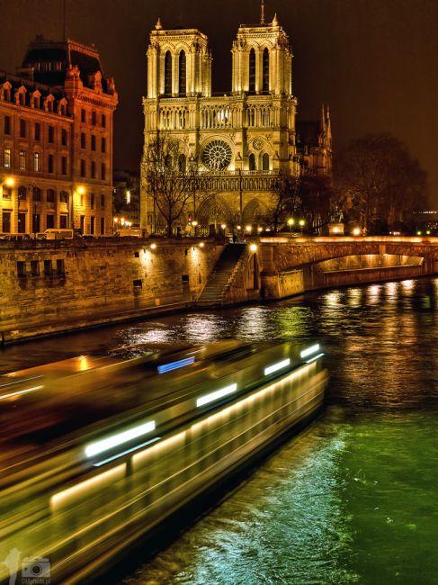 Zdjęcia: Notre-Dame de Paris, Paris, Cathédrale Notre-Dame de Paris by Night, FRANCJA
