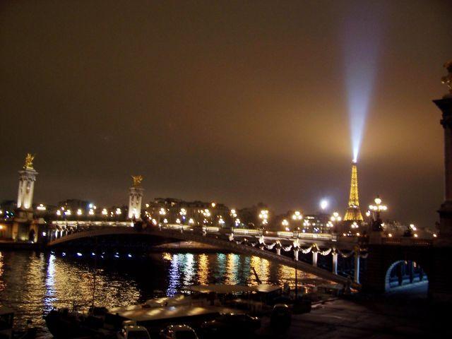 Zdjęcia: Paryż nad Sekwaną, Paryż, noc nad Sekwaną, FRANCJA