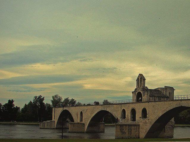 Zdj�cia: Avinion, -Prowansja, most , FRANCJA
