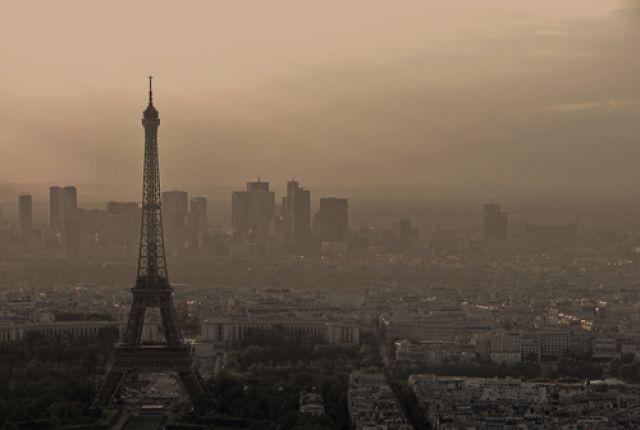 Zdjęcia: widok z Tour Montparnasse , Paryż, świtem, FRANCJA