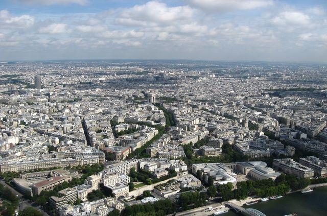 Zdj�cia: wie�a Eiffla, Pary� z g�ry, FRANCJA