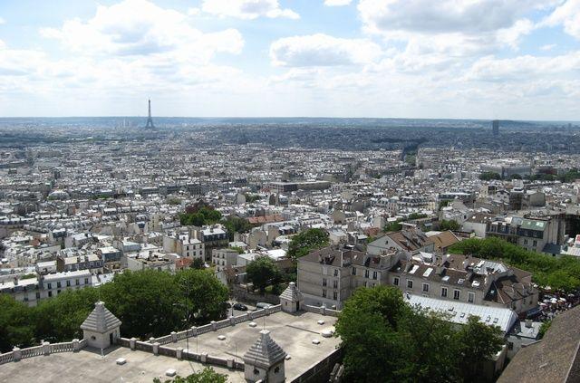 Zdjęcia: Bazylika Sacré Coeur , Paryż z góry, FRANCJA