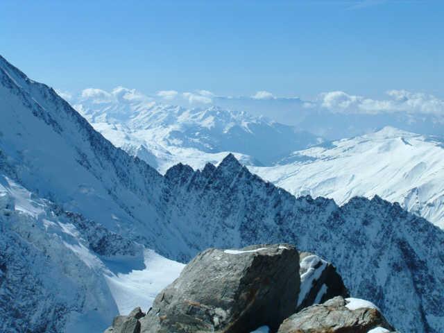 Zdjęcia: masyw M. Blanc, widok z grani, FRANCJA