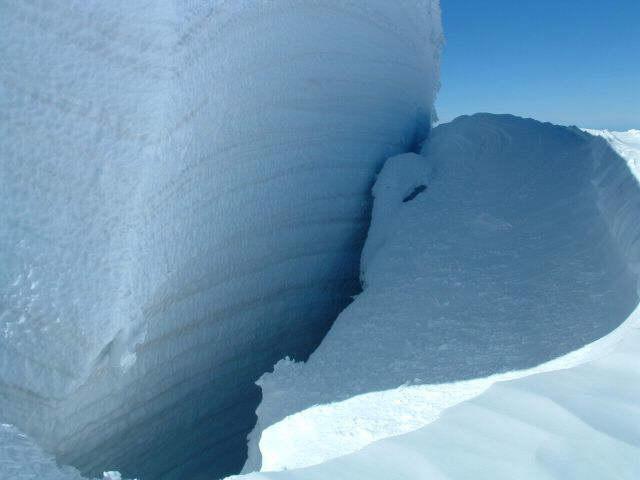 Zdjęcia: masyw M Blanc, szczelina lodowa, FRANCJA