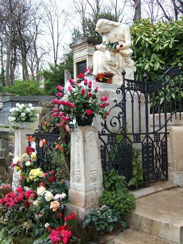 Zdjęcia: Paryz-cmentarz  Pere-Lachaise , Francja, grób F.Chopina, FRANCJA