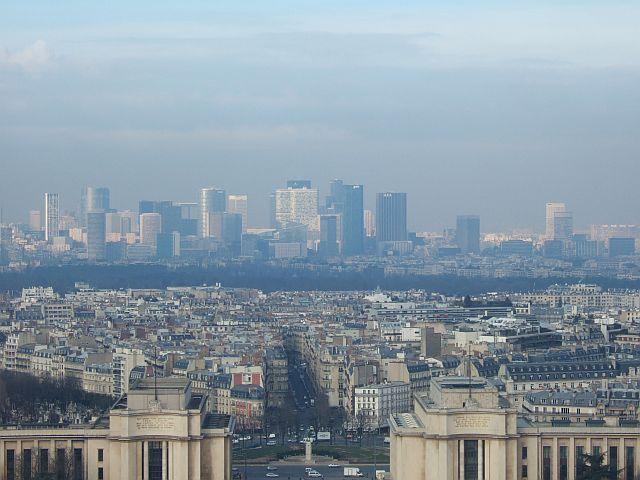 Zdjęcia: Paryż, Francja, la defense w oddali, FRANCJA
