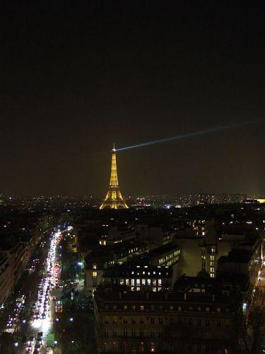 Zdjęcia: Paryż, Francja, tower by night, FRANCJA