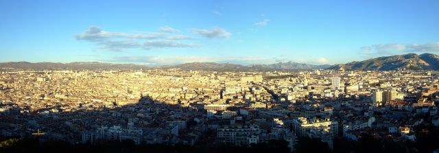 Zdj�cia: Marsylia, prowansja, marsylianska panorama, FRANCJA