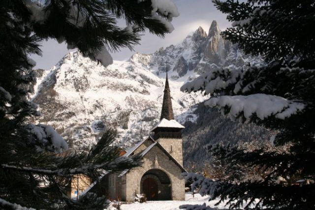 Zdjęcia: Chamonix, kosciolek, FRANCJA