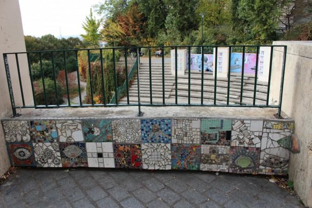 Zdjęcia: Paryż, Ile-de-France, Mozaika - Belweder, FRANCJA
