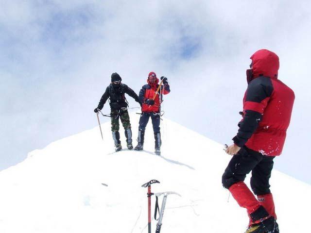 Zdj�cia: Szczyt Mont Blanc, Masyw Mont Blanc, Si�a Marze� Na szczycie Mont Blanc 4808m n.p.m., FRANCJA