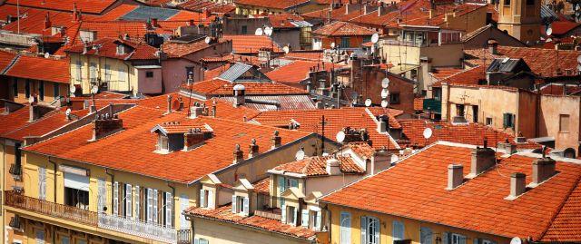 Zdjęcia: Nicea, Cote d'Azur, Dachy, FRANCJA