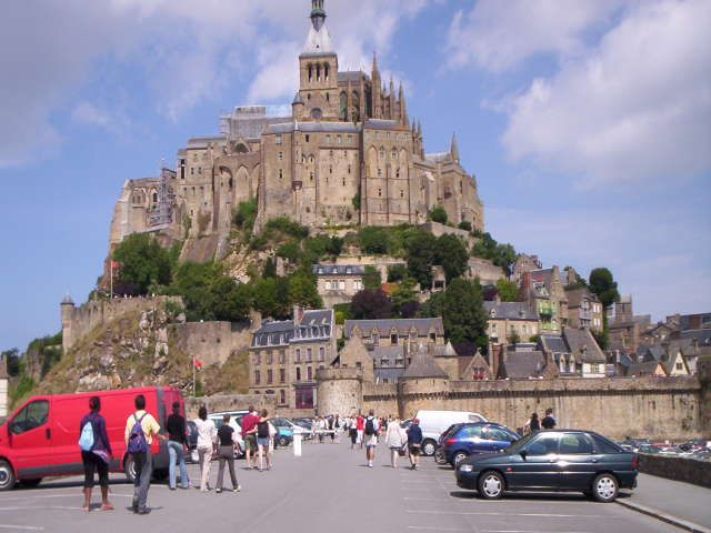 Zdj�cia: st michael, Normandia, wyspa?, FRANCJA