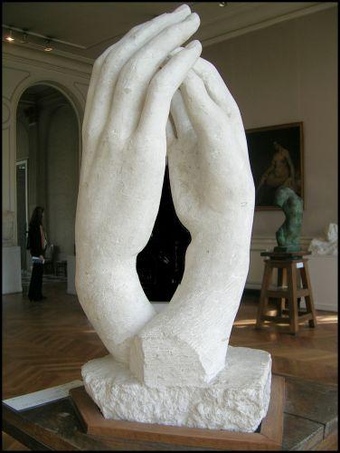"Zdj�cia: Paris - dom muzeum Rodina, Francja p�lnocna, ""Katedra""  rze�ba Rodina, FRANCJA"