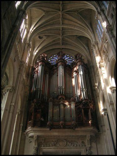 Zdjęcia: Paryz, Fr.płnocna, Organy podniebne - St. Eustache, FRANCJA