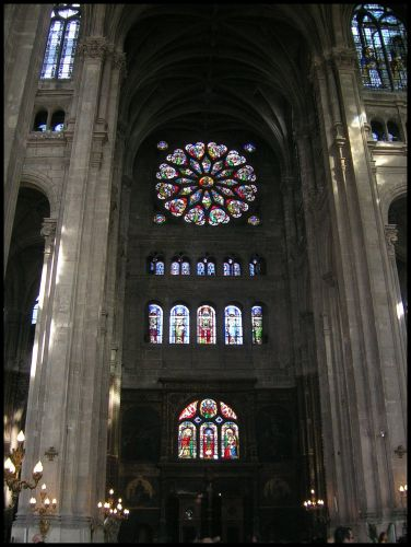 Zdjęcia: Paryz, Fr.płnocna, witraże u Eustachego, FRANCJA